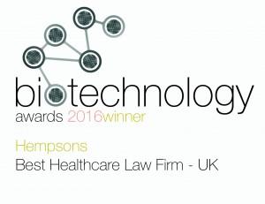 Hempsons -2016 Biotechnology Awards (BI160027) Logo winners