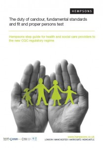 Duty of Candour and Fundamental Standards of Care front cover